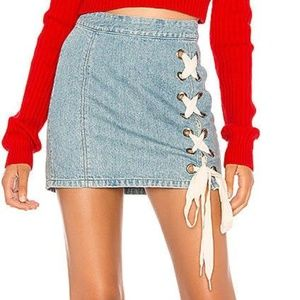 REVOLVE Lovers + Friends JAKE Mini Denim Skirt